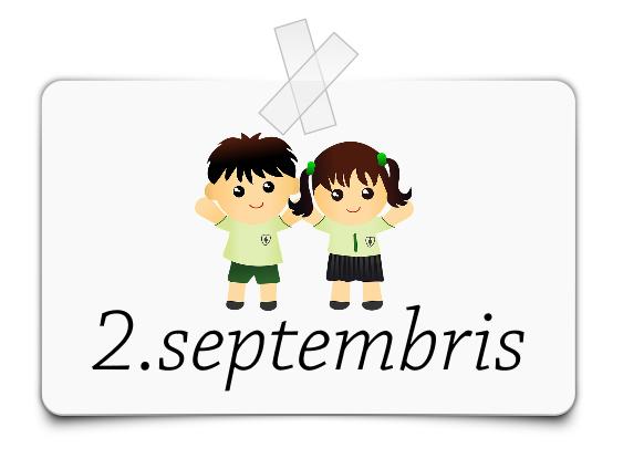 Informācija par pirmo septembra nedēļu