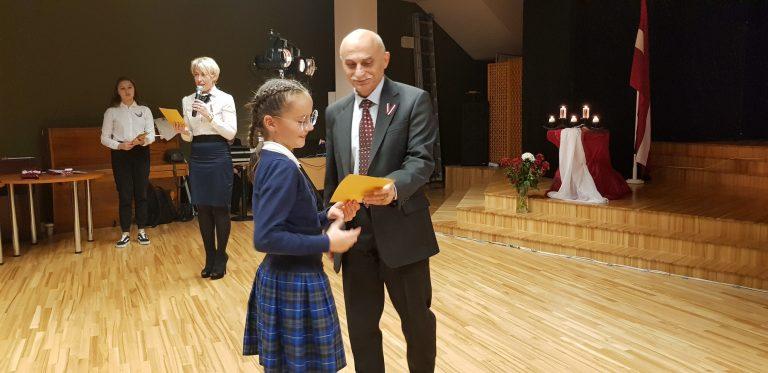 Svinīga līnija veltīta par godu Latvijas Republikas Proklamēšanas dienai – 18.novembrim