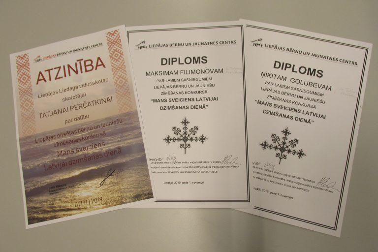 """Zīmēšanas konkurss """"Mans sveiciens Latvijai dzimšanas dienā""""."""