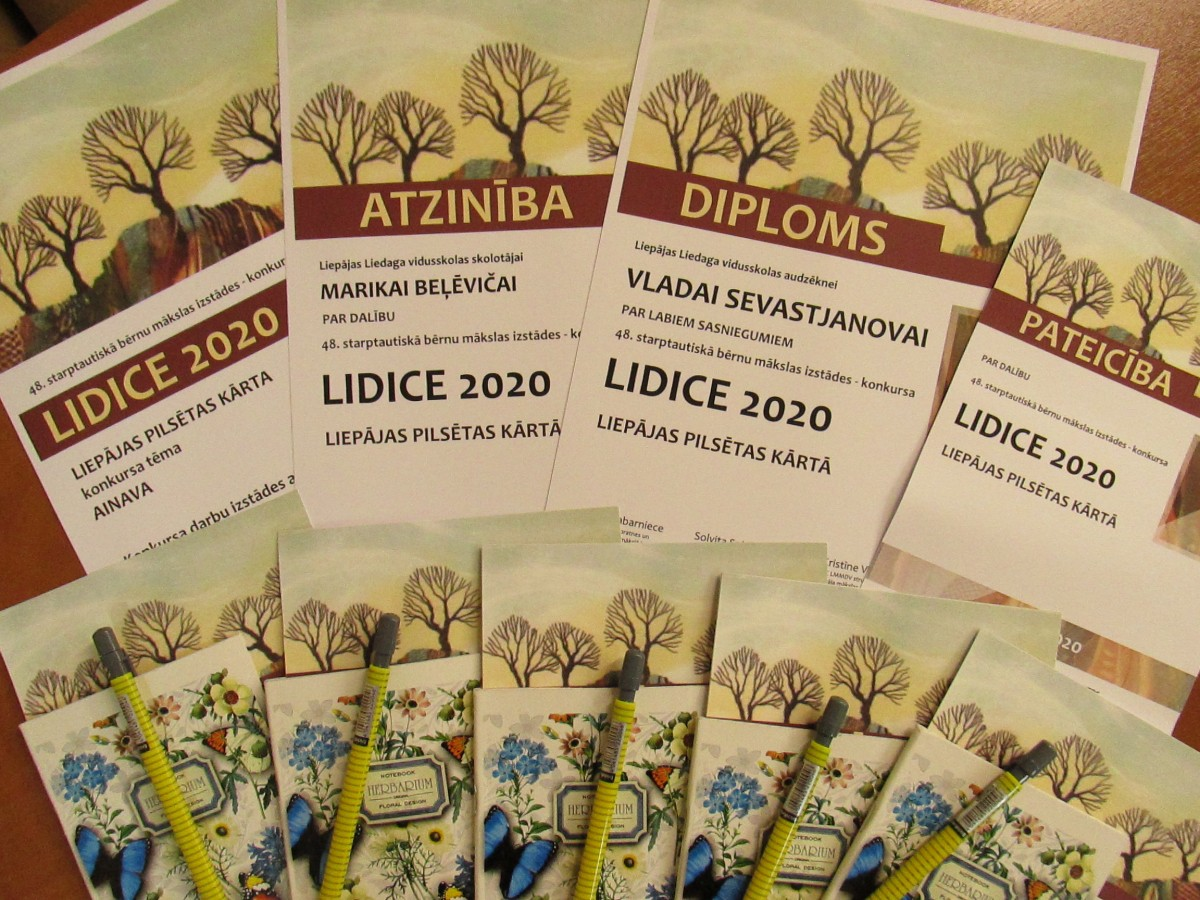 """Starptautisks bērnu un jauniešu mākslas konkurss """"Lidice 2020"""" Liepājas pilsētas kārtā."""