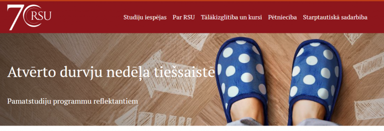 Aicina Rīgas Stradiņa universitāte!