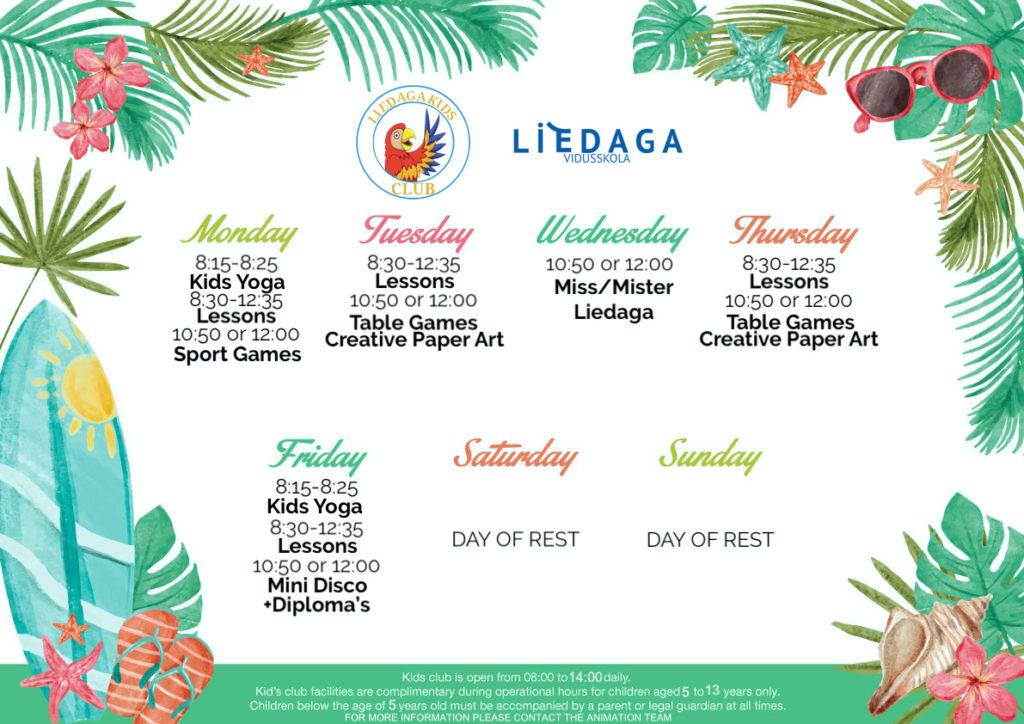 kids club Liedaga