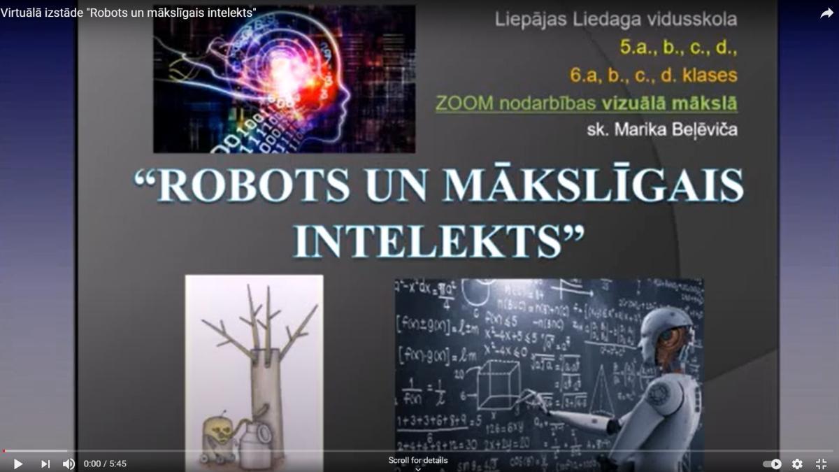 """Virtuālā izstāde """"Robots un mākslīgais intelekts"""""""