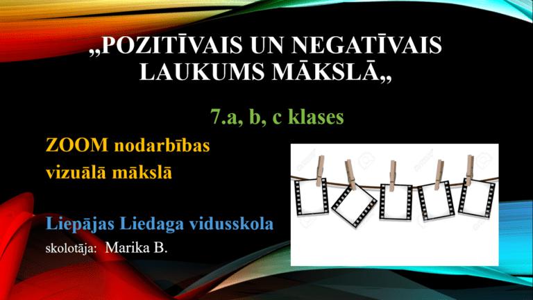 """Read more about the article """"Pozitīvais un negatīvais laukums mākslā"""""""