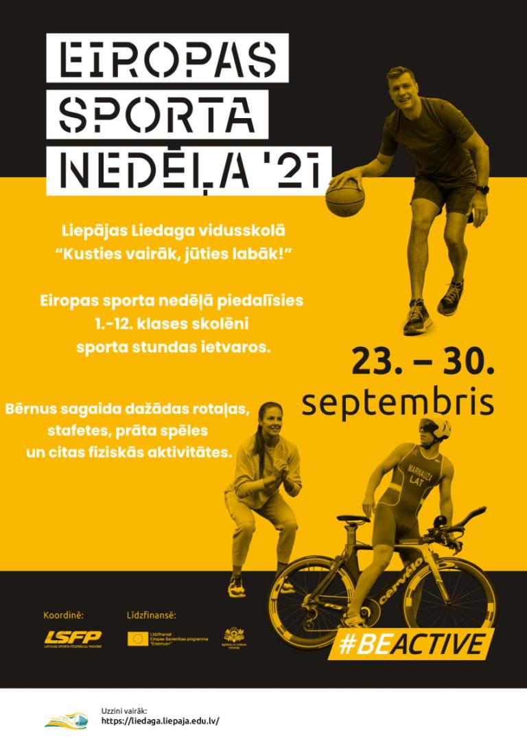 Read more about the article 23.-30. septembris – Eiropas sporta nedēļa '21